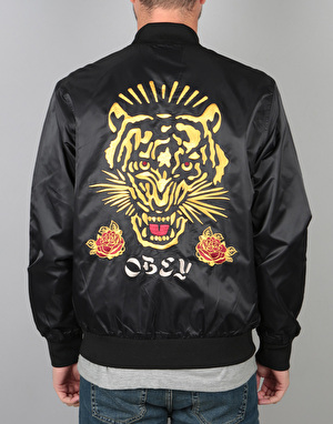 Obey Savage Satin Jacket - Black