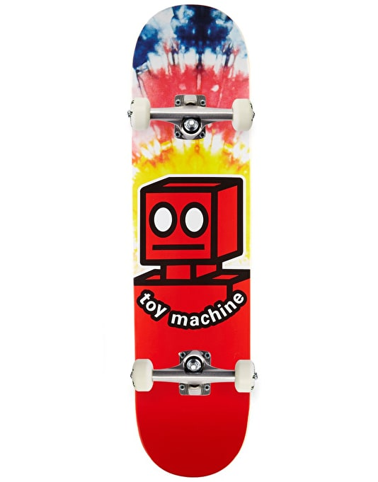 Toy Machine Robot Tie Dye Complete Skateboard - 7.875""