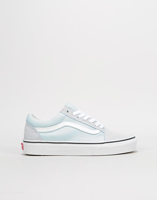 9b673b13a31f8e Vans Old Skool Womens Trainers - Baby Blue True White