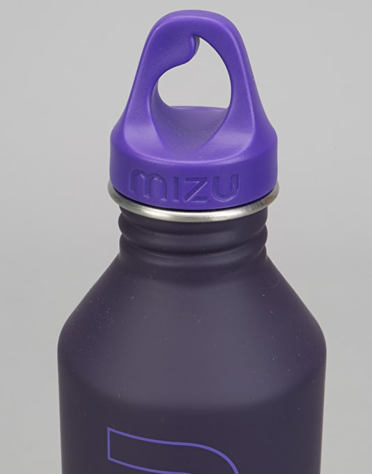 MIZU M8 Logo Soft Touch 800ml/27oz Water Bottle - Purple/Purple