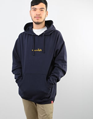 Chocolate Mid Chunk Pullover Hoodie - Navy