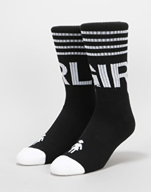 Girl Jock Socks - Black/White