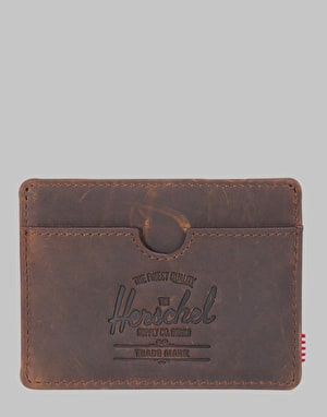 Herschel Supply Co. Charlie Leather RFID Card Holder - Nubuck Leather
