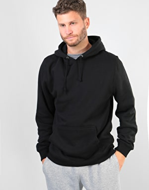 Stüssy Smooth Stock Applique Pullover Hoodie - Black