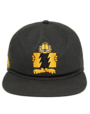 The Hundreds x Garfield Flag Unstructured Snapback Cap - Black
