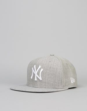 New Era 9Fifty New York Yankees League Snapback Cap - Heather Grey