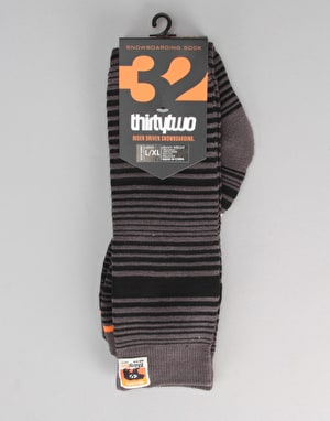 ThirtyTwo Serape Snowboard Socks - Carbon