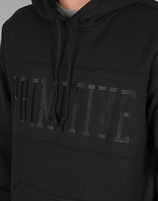 Primitive League Piped Pullover Hoodie - Black
