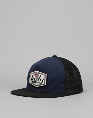Independent Patch Mesh Back Mesh Cap - Navy