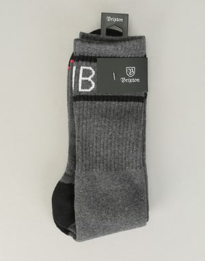 Brixton Tanner Socks - Heather Charcoal