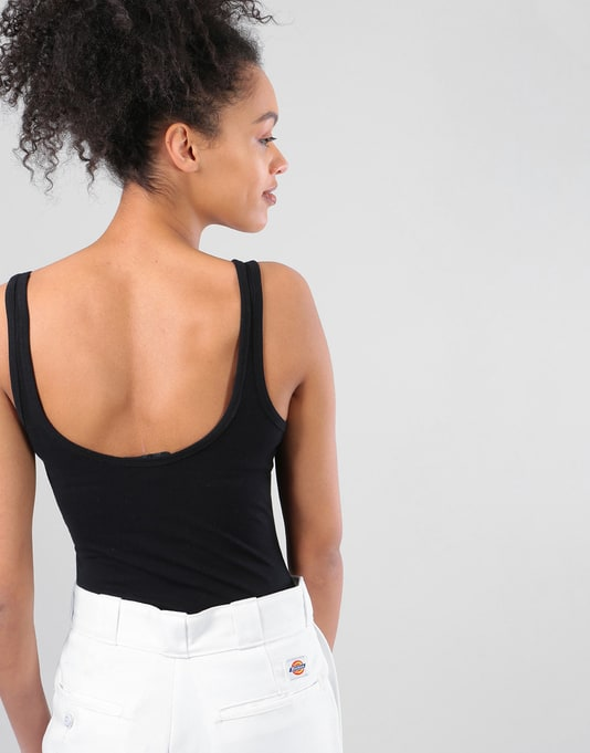 Vans Womens Checking In Body Top - Black