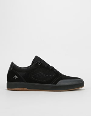 Emerica Dissent Skate Shoes - Black/Black