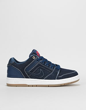 Nike SB Air Force II Low QS Skate Shoes - Squadron Blue/White