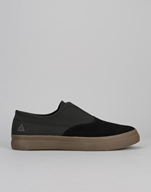 HUF Dylan Slip On Skate Shoes - Black/Dark Gum