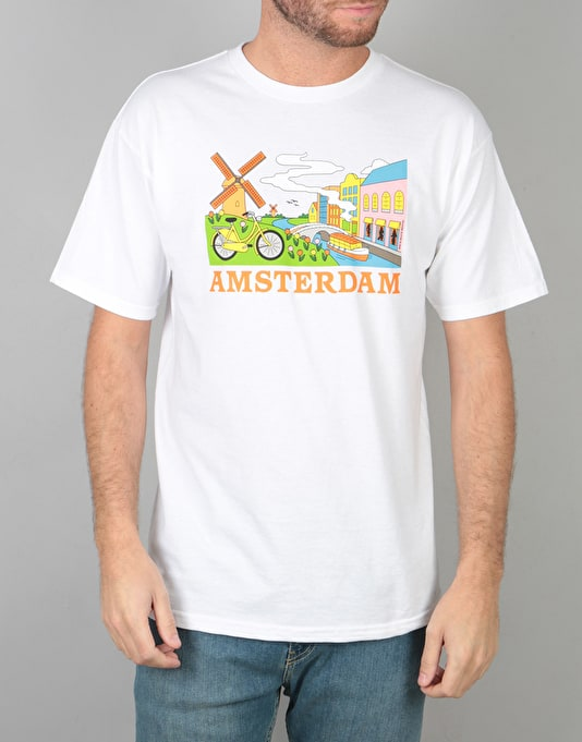 Skate Mental Amsterdam Tourist T-Shirt - White