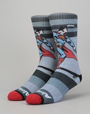 Almost x DC Comics Super Mongo Socks - Grey