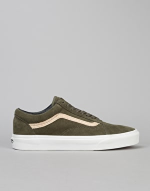 Vans Old Skool Skate Shoes - (MLX) Wood/Ivy Green