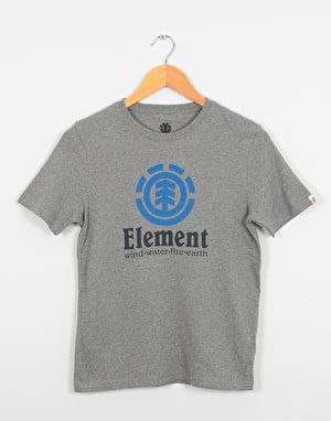 Element Vertical  Boys T-Shirt - Grey Heather