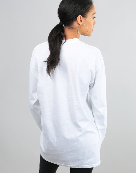 Route One Womens Logo L/S Oversized T-Shirt - White