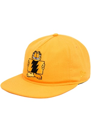 The Hundreds x Garfield Flag Unstructured Snapback Cap - Orange