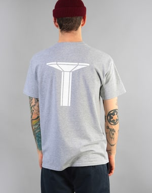 Long Live Southbank Pillar T-Shirt - Heather Grey/White