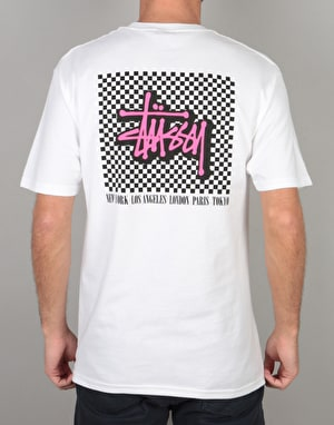Stüssy Checkers T-Shirt - White