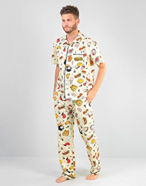 The Hundreds x Garfield Pajama Set - Pale Yellow