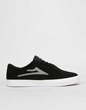Lakai Sheffield Skate Shoes - Black/Grey Suede