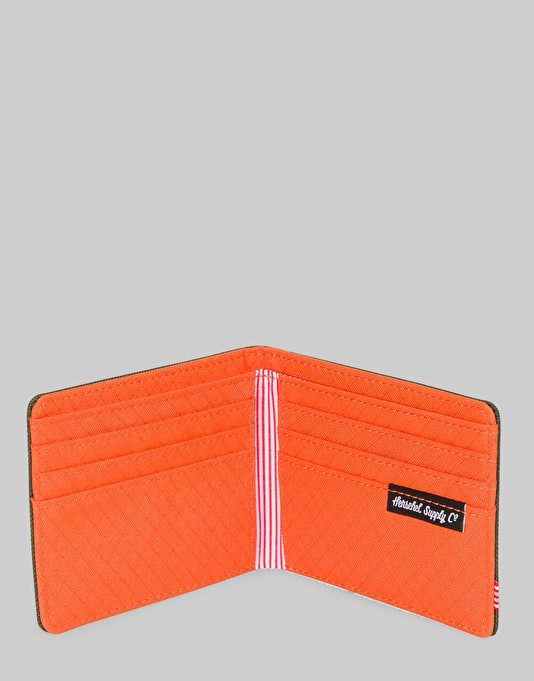 Herschel Supply Co. Roy Wallet - Forest Night/Vermillion Orange