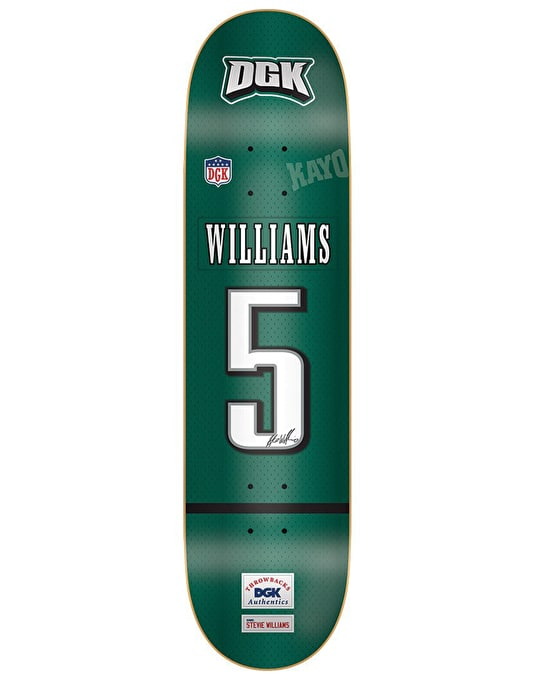 DGK Williams Throwback Skateboard Deck - 7.9""