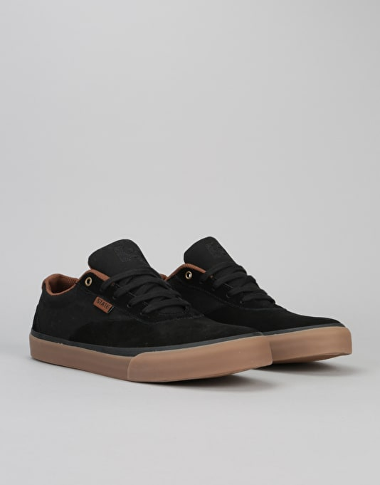 State Madison  Skate Shoes - Black/Gum Suede