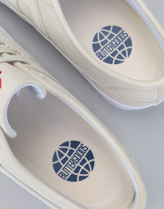 HUF x Butter Goods Hupper 2 Lo Skate Shoes - Natural