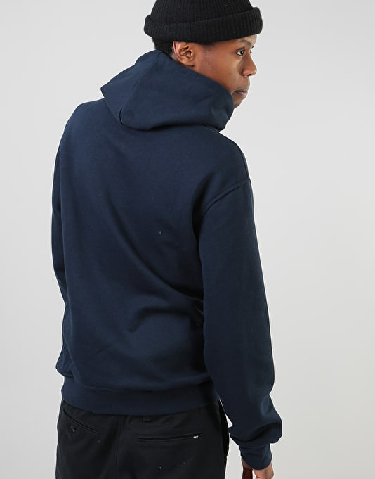 Nicce Emboss Pullover Hoodie - Navy