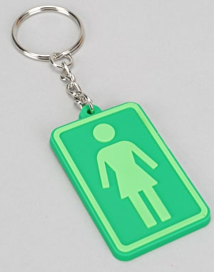 Girl Rubber Keychain - Green