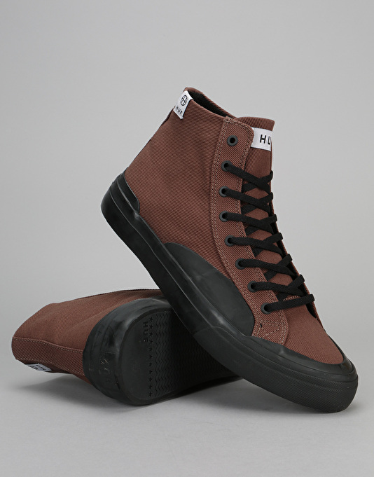 HUF Classic Hi Skate Shoes - Brown/Black