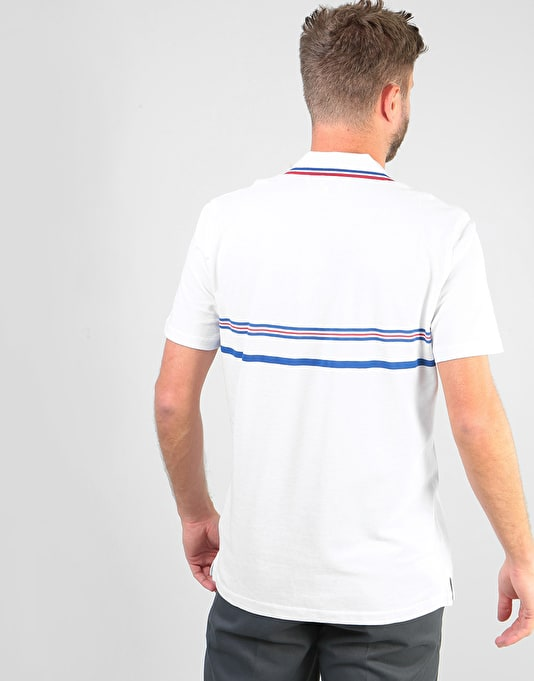 éS x Grizzly Court Classic Polo Shirt - White