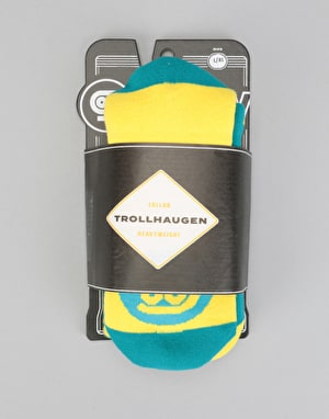 Stinky x Trollhaugen HW 2018 Snowboard Socks - Blue/Yellow