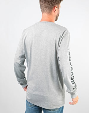Converse Star Chevron Wordmark L/S T-Shirt - Heather Grey