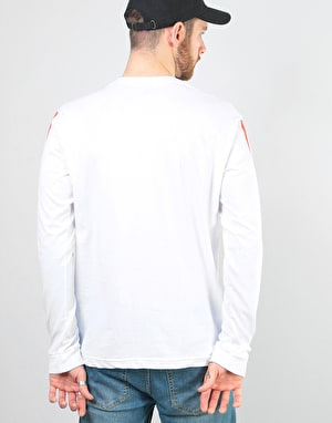 éS x Grizzly Raquet L/S T-Shirt - White