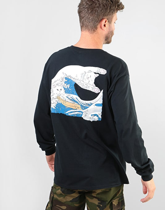 RIPNDIP Great Wave L/S T-Shirt - Black