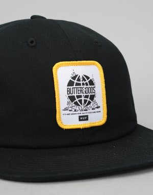HUF x Butter Goods Feels Like Home 6 Panel Cap - Black