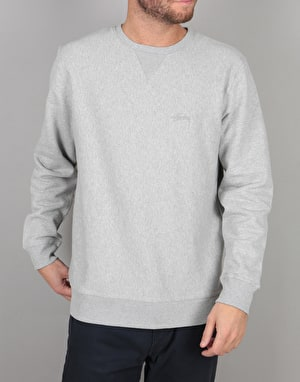 Stüssy Stock Logo Crew - Grey Heather