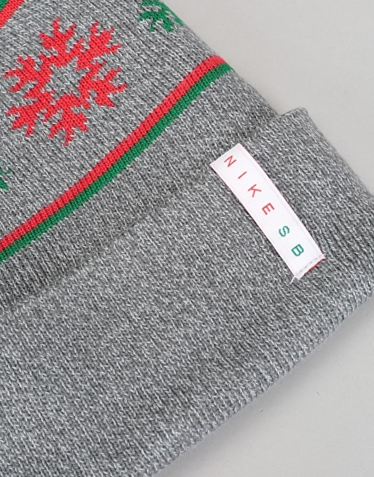 Nike SB Concepts QS Beanie - Cool Grey/Pine Green/University Red