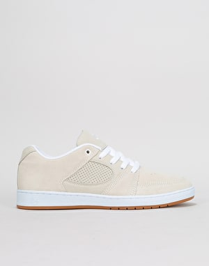 éS Accel Slim Skate Shoes - White/White/Gum