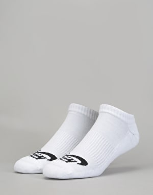 Nike SB No-Show Socks 3 Pack - White/Black