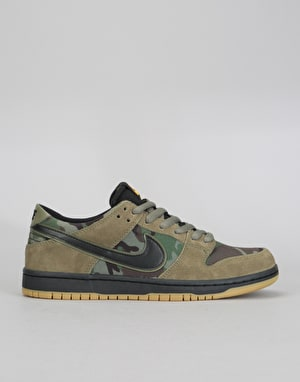 Nike SB Zoom Dunk Low Pro Skate Shoes - Medium Olive/Black-Gum
