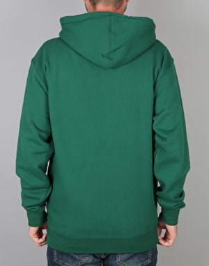 Obey Ripped Pullover Hoodie - Dark Green