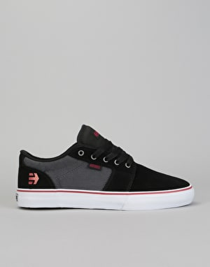 Etnies Barge LS Skate Shoes - Black/Dark Drey