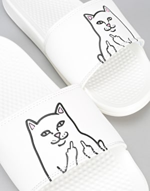 RIPNDIP Lord Nermal Sliders - White