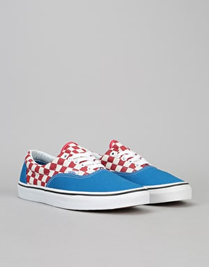 Vans Era Skate Shoes - (2-Tone Check) Imperial Blue/True White